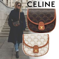 CELINE Triomphe Canvas Mini Besace In Triomphe Canvas And Calfskin