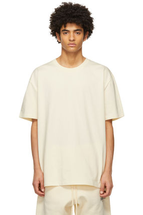 FEAR OF GOD ESSENTIALS Crew Neck Pullovers Unisex Street Style Plain Short Sleeves
