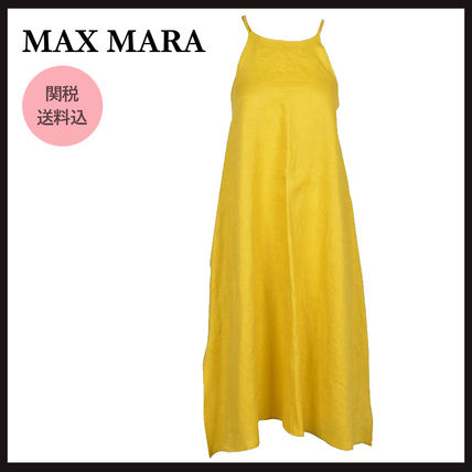 Max&Co. Casual Style Maxi A-line Flared Plain Long Office Style