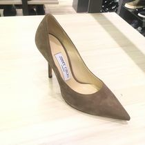 Jimmy Choo Suede Plain Pointed Toe Pumps & Mules