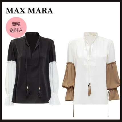 Max&Co. Casual Style Plain Cotton Office Style Elegant Style