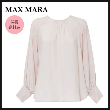 Max&Co. Casual Style Silk Plain Office Style Elegant Style