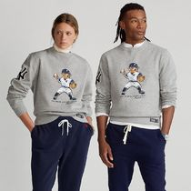 POLO RALPH LAUREN Unisex Sweat Collaboration Long Sleeves Logos on the Sleeves
