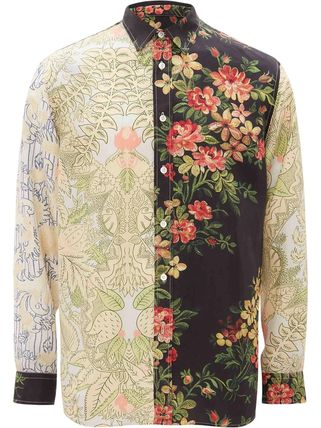 J W ANDERSON Shirts Button-down Flower Patterns Unisex Street Style Long Sleeves 2