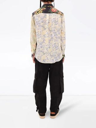 J W ANDERSON Shirts Button-down Flower Patterns Unisex Street Style Long Sleeves 3