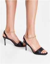 ASOS Casual Style Faux Fur Chain Plain Pin Heels Party Style