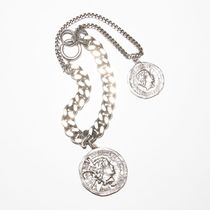 Ance Studios Casual Style Unisex Coin Street Style Party Style Silver