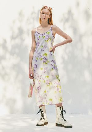 citybreeze Flower Patterns Casual Style Street Style Long Dresses