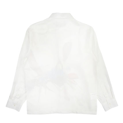 AWAKE NY Button-down Flower Patterns Silk Street Style Long Sleeves