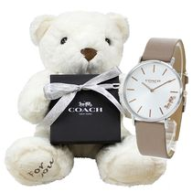 Coach Casual Style Round Party Style Quartz Watches Office Style
