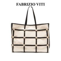 Fabrizio Vitii Casual Style Leather Party Style Formal Style  Totes