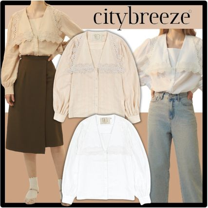 citybreeze Casual Style Street Style Shirts & Blouses