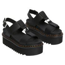 Dr Martens Platform Casual Style Street Style Plain Formal Style  Logo