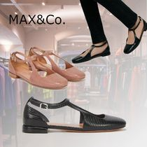 Max&Co. Round Toe Casual Style Plain Other Animal Patterns