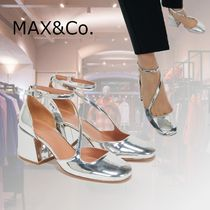 Max&Co. Round Toe Casual Style Plain Leather Party Style