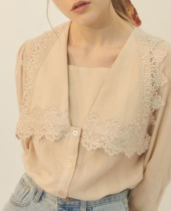 citybreeze Casual Style Street Style Long Sleeves Shirts & Blouses