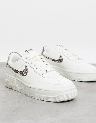 Nike AIR FORCE 1 Unisex Python Logo Low-Top Sneakers
