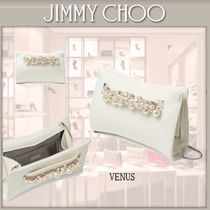 Jimmy Choo Casual Style Blended Fabrics 2WAY Chain Plain Leather