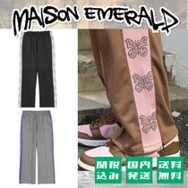 MAISON EMERALD Unisex Street Style Plain Other Animal Patterns With Jewels