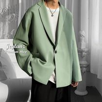 Street Style Plain Long Oversized Bridal Front Button