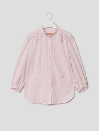 BEAN POLE Casual Style Cropped Plain Cotton Medium Office Style