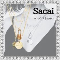 sacai Costume Jewelry Casual Style Coin Chain Brass Elegant Style