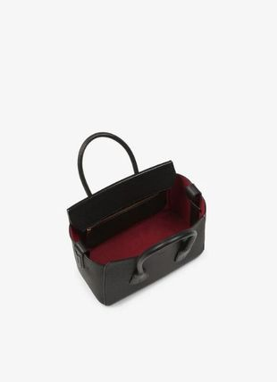 BALLY Handbags Casual Style A4 Plain Leather Party Style Office Style 3