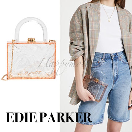 Edie Parker Clutches Casual Style Plain Elegant Style Clutches
