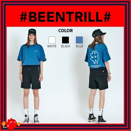 BEEN TRILL T-Shirts Unisex Street Style Plain Cotton Short Sleeves Logo T-Shirts
