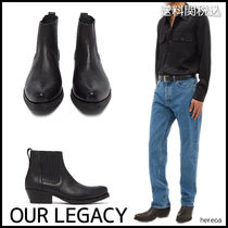 OUR LEGACY Unisex Street Style Plain Leather Chelsea Boots