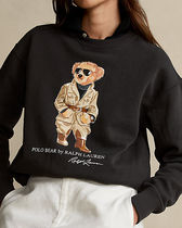 POLO RALPH LAUREN Crew Neck Sweat Long Sleeves Plain Other Animal Patterns