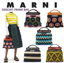 MARNI Flower Patterns Casual Style Blended Fabrics Bags
