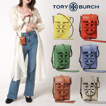 Tory Burch MILLER Casual Style Plain Leather Party Style Office Style