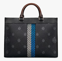 Berluti Business & Briefcases Ulysse Small Canvas And Leather Tote Bag 5