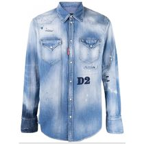 D SQUARED2 Long Sleeves Cotton Logo Luxury Shirts