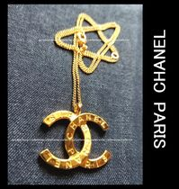 CHANEL ICON Unisex Street Style Metal Logo Necklaces & Chokers