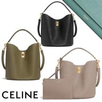 CELINE 16 Casual Style Calfskin 2WAY Plain Leather Office Style