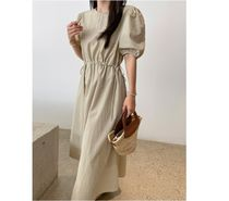 RONIEL Dresses Casual Style A-line Flared Cropped Plain Long Short Sleeves 6