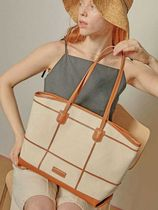 ndearose Casual Style Leather Totes
