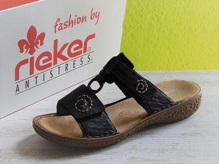 rieker Flat Casual Style Faux Fur Footbed Sandals Flat Sandals