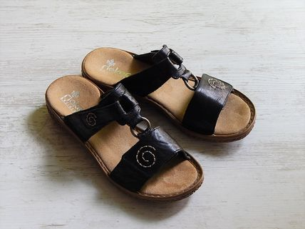 rieker Flat Casual Style Faux Fur Footbed Sandals Flat Sandals 2