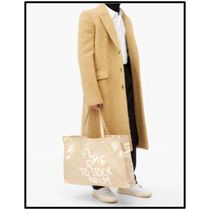 Ance Studios Baker out Unisex Canvas Street Style Logo Totes
