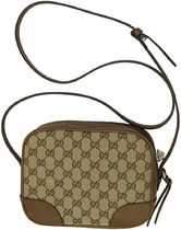 GUCCI Monogram Casual Style Canvas Leather Office Style Crossbody
