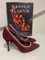 Manolo Blahnik Casual Style Suede Office Style Elegant Style