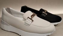 TOD'S Platform Plain Toe Moccasin Rubber Sole Casual Style