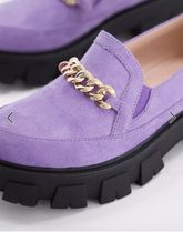 ASOS Platform Casual Style Suede Street Style Chain Plain