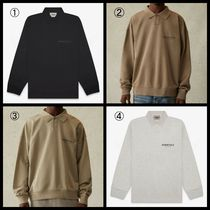 FEAR OF GOD ESSENTIALS Street Style Long Sleeves Cotton Logo Polos
