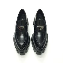 PRADA Monolith brushed leather loafers