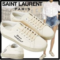 Saint Laurent Casual Style Unisex Street Style Logo Low-Top Sneakers