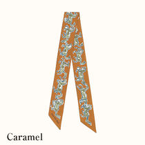 HERMES Casual Style Silk Party Style Elegant Style Logo